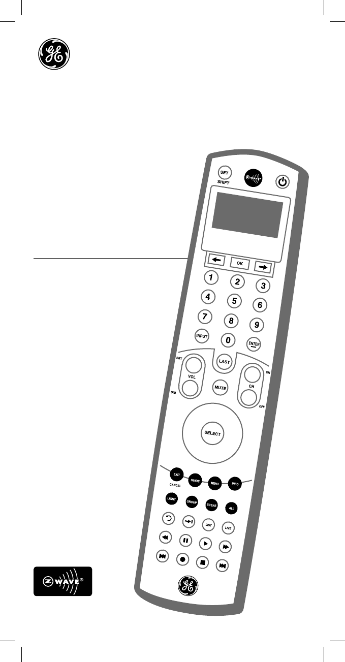 ge universal remote 45608 user guide