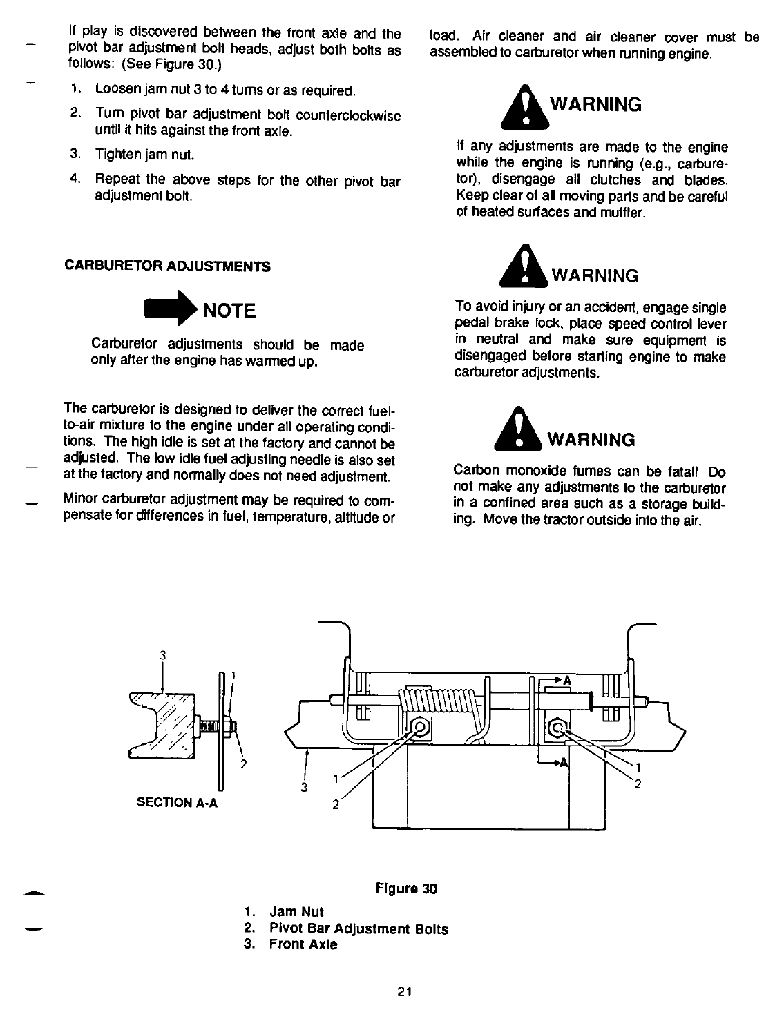 Page 21 Of Cub Cadet Lawn Mower 1864 User Guide