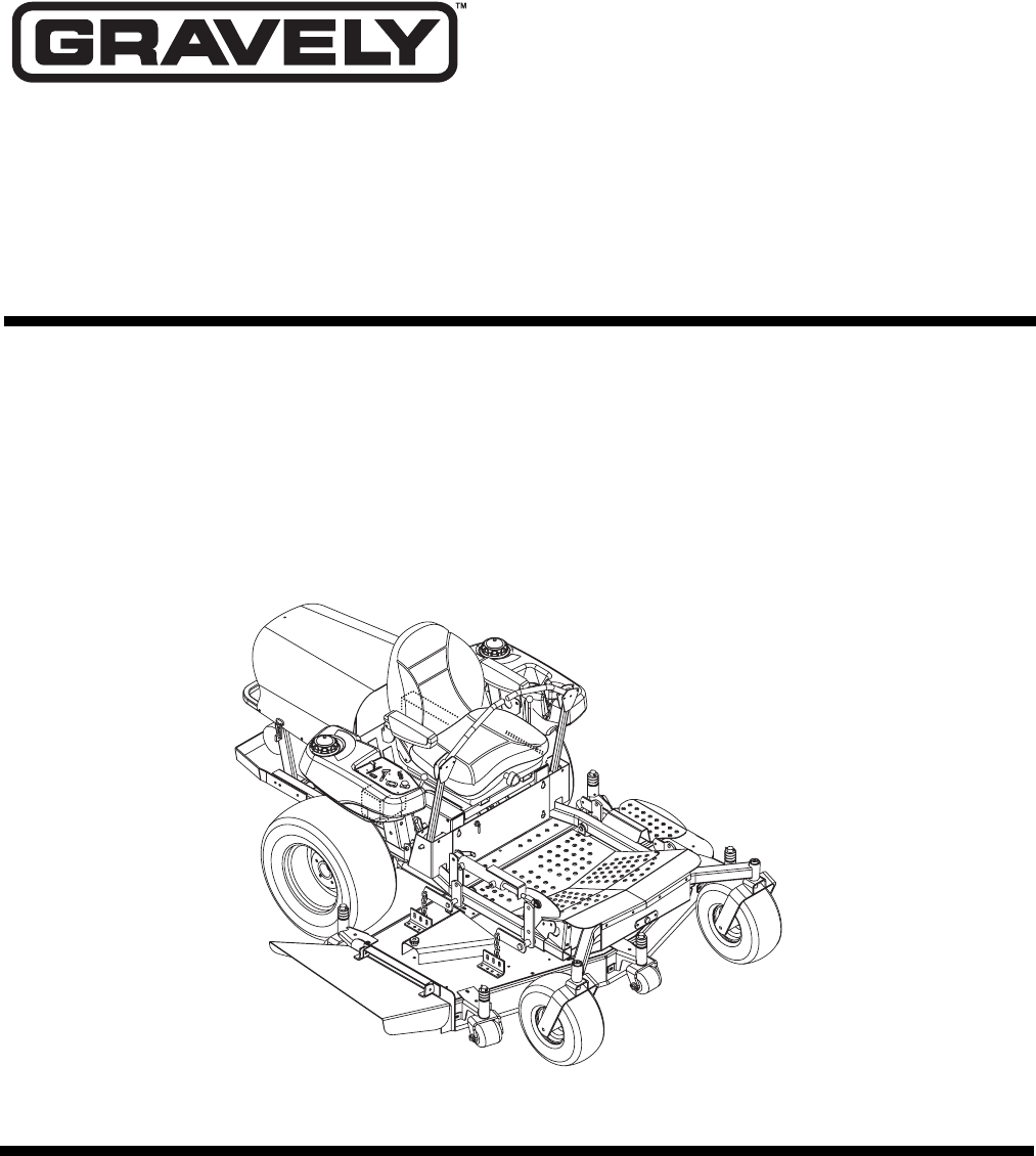 Gravely Lawn Mower 260Z User Guide   ManualsOnline