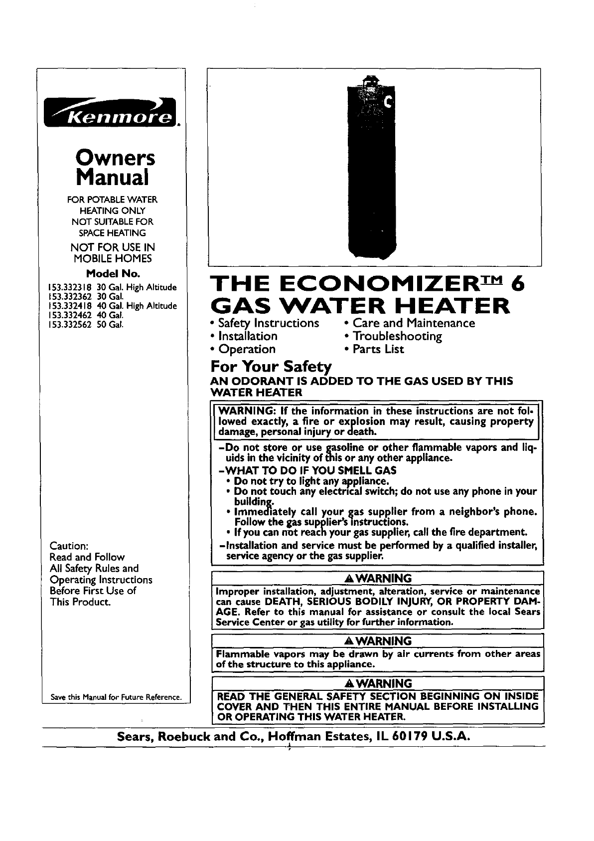 Kenmore water heater 153332462 user guide manualsonline ccuart Image collections