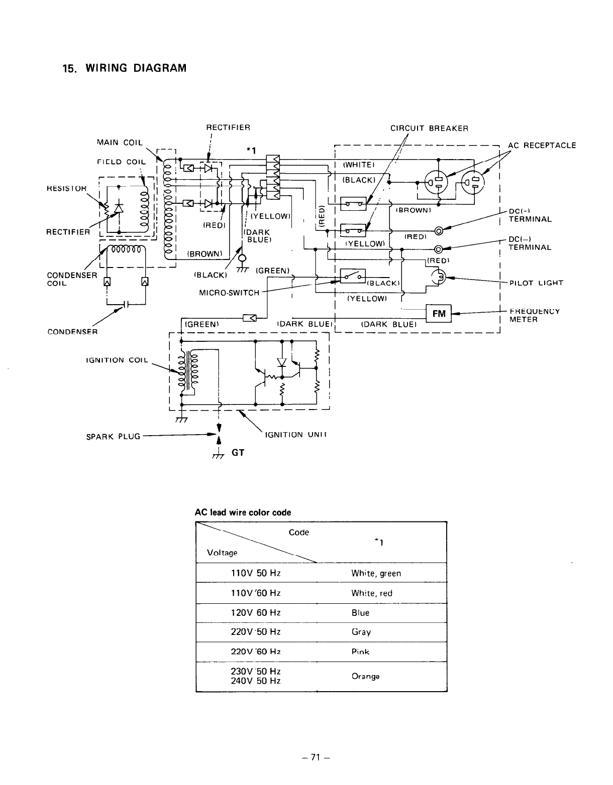 page 74 of subaru robin power products portable generator r600 user rh lawnandgarden manualsonline com Subaru Stereo Wiring Harness Diagram 2002 Subaru Forester Wiring-Diagram