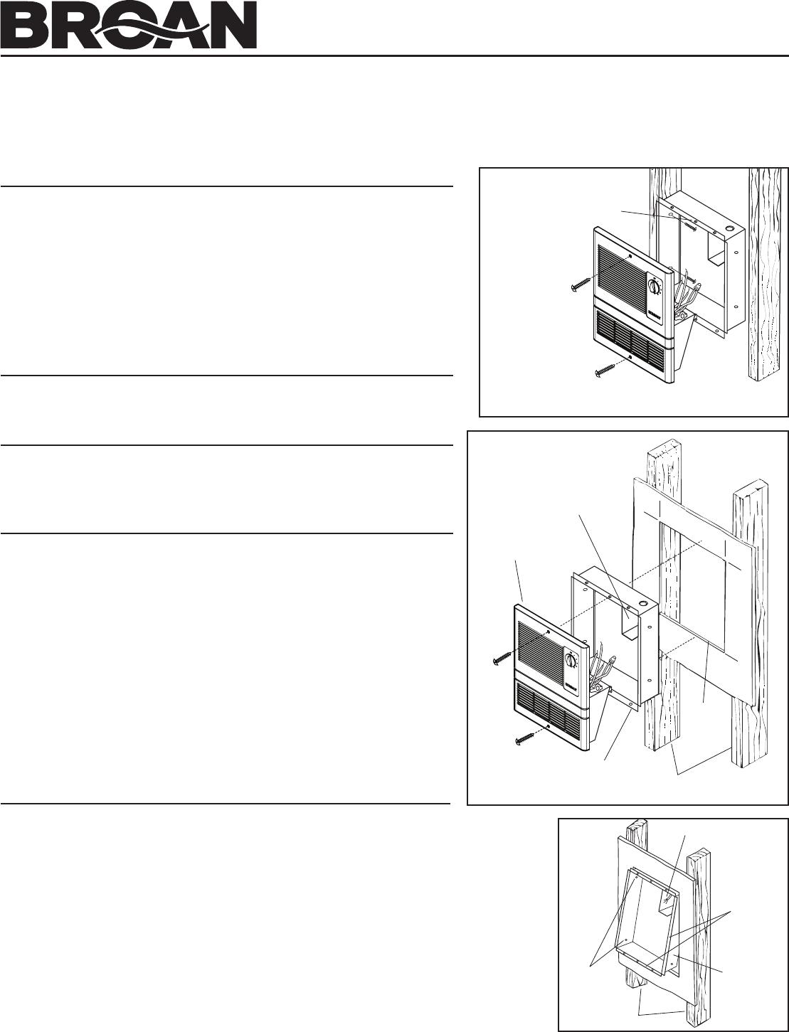 Broan Fan 9815WH SERIES User Guide | ManualsOnline.com