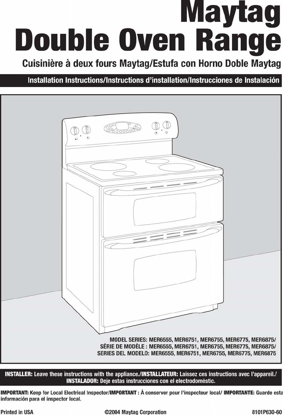 page 30 of maytag double oven mer6555aab q w user guide rh kitchen manualsonline com bosch double oven installation instructions kitchenaid double oven installation instructions