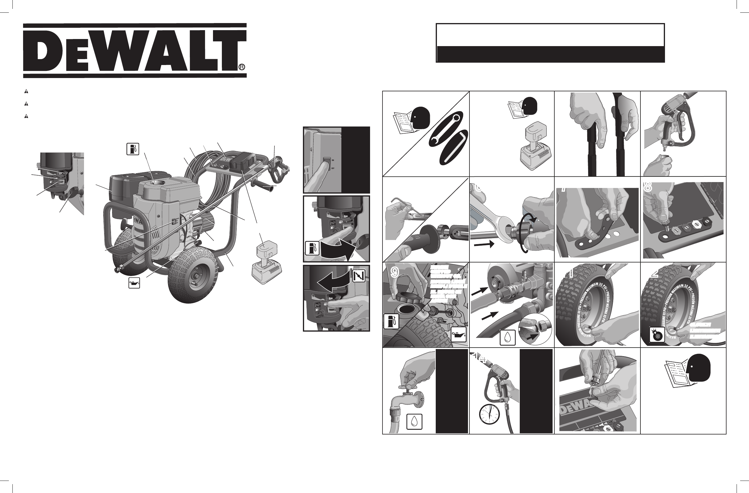dewalt pressure washer dpe3800 user guide manualsonline com
