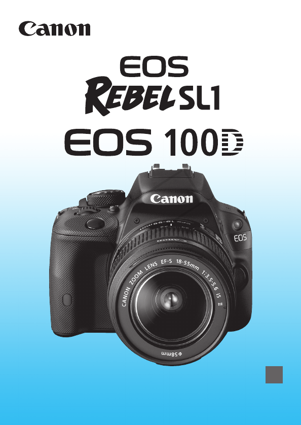 canon camera instruction manual pdf