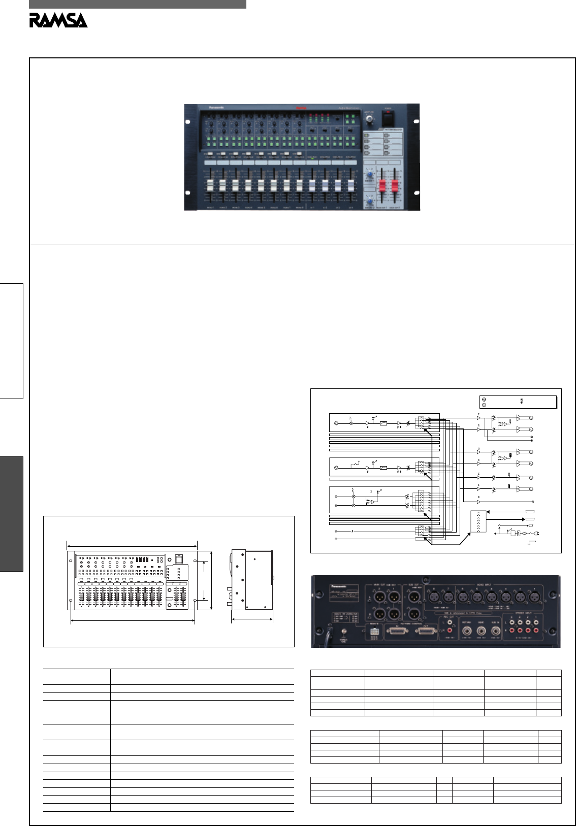 panasonic music mixer wr x22nh user guide manualsonline com rh music manualsonline com 4 Channel Audio Mixer Hand Mixer Harvey Norman