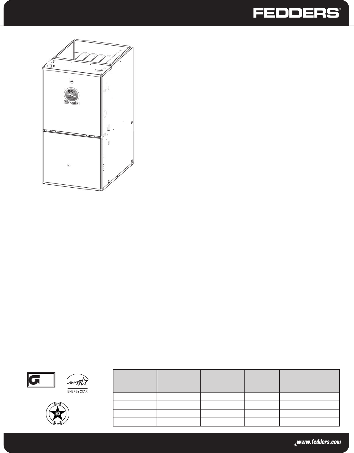 Fedders Furnace Fv95a Series User Guide
