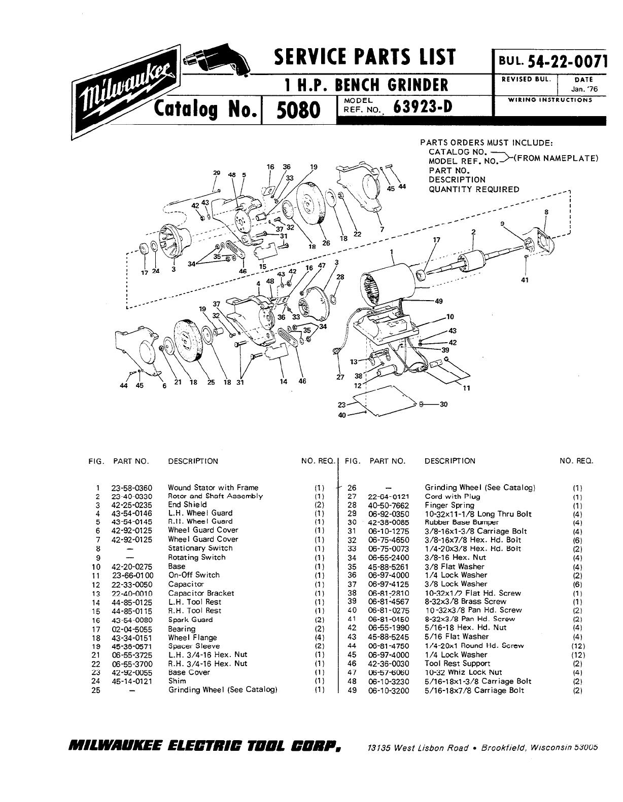 Porter Cable Bench Grinder 8 Sears Bench Grinder 397 19671