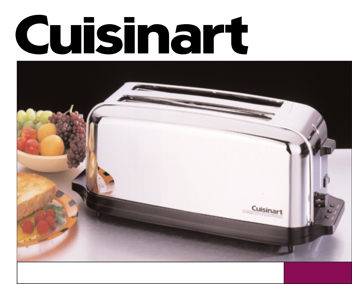 Self Cleaning Toaster ~ Cuisinart toaster cpt c user guide manualsonline
