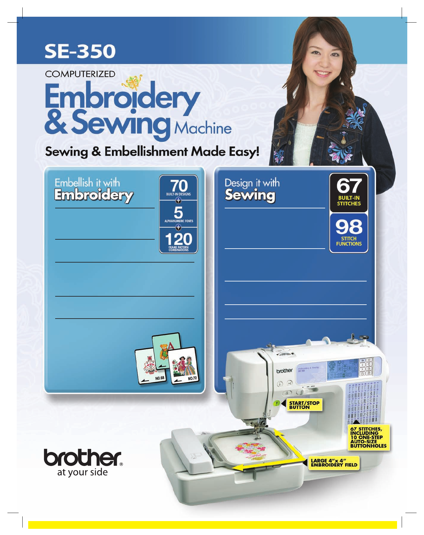 Brother Sewing Machine SE-350 User Guide | ManualsOnline.com