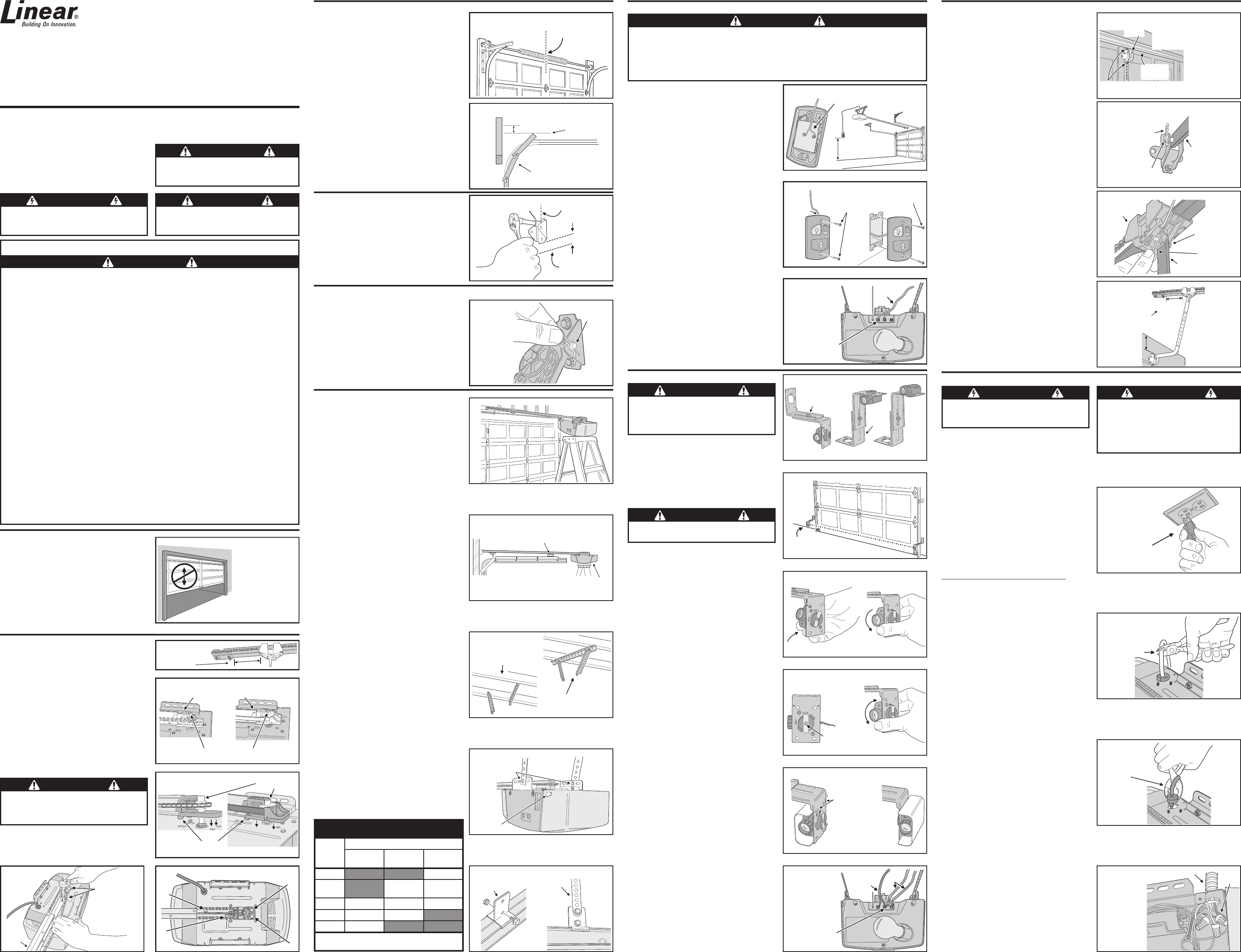 Linear Garage Door Opener Lco75 User Guide Manualsonline Com