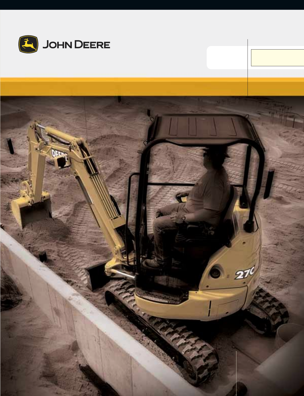 john deere products services compact excavator 35c zts user guide rh laundry manualsonline com John Deere Lawn Mower Parts John Deere L120 Manual