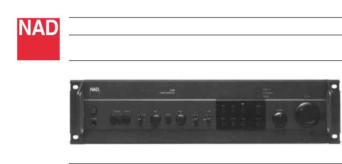 nad stereo amplifier 3400 user guide manualsonline com rh audio manualsonline com Nad C162 Preamplifier NAD 1600 Pre Amp