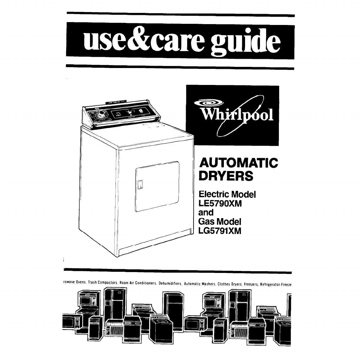whirlpool clothes dryer le5790xm lg5791xm user guide rh laundry manualsonline com rca whirlpool refrigerator manual RCA Refrigerator Troubleshooting