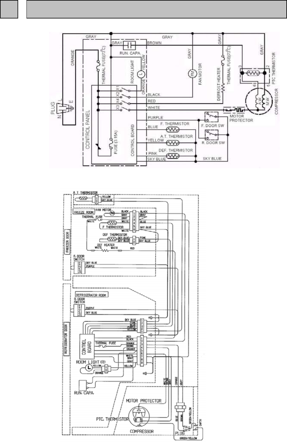 page 11 of mitsubishi electronics refrigerator mr
