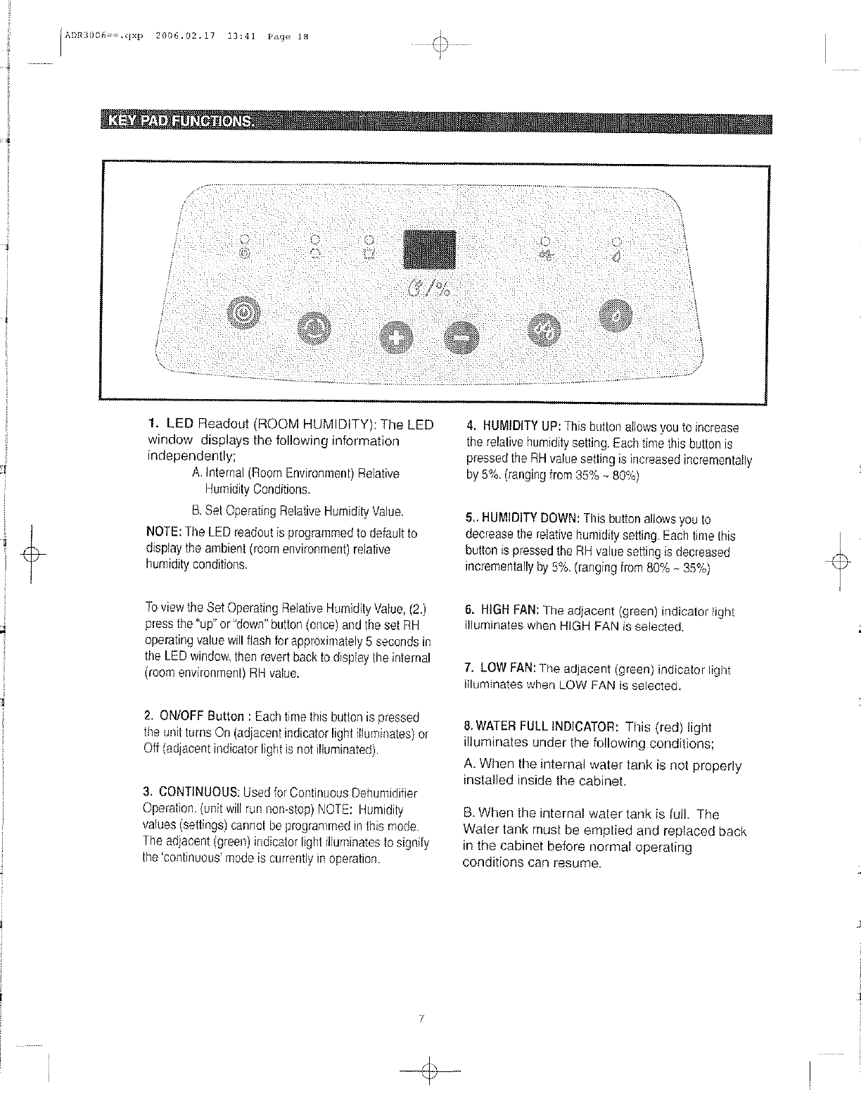 danby premiere dehumidifier user manual