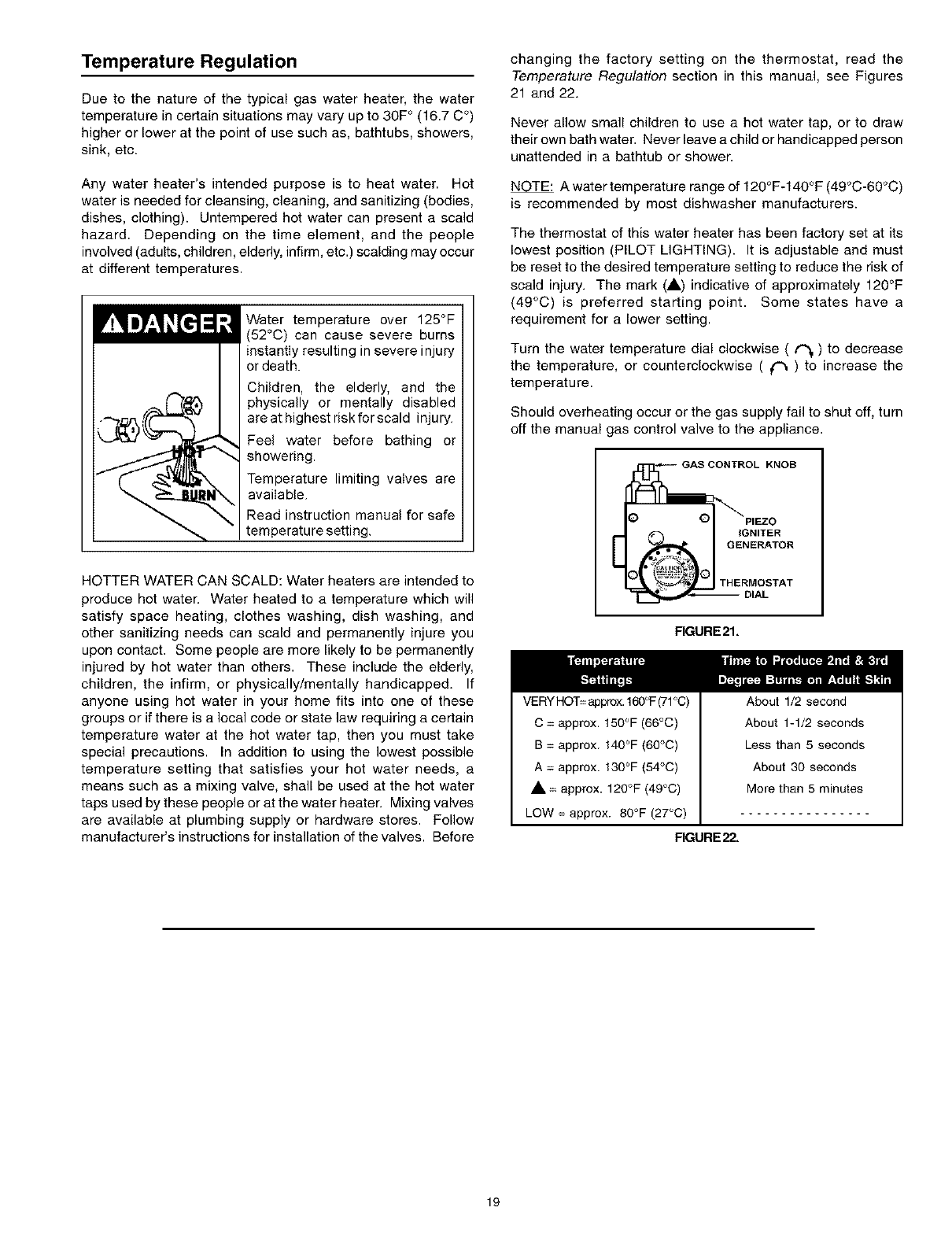 page 19 of kenmore water heater 153 user guide. Black Bedroom Furniture Sets. Home Design Ideas
