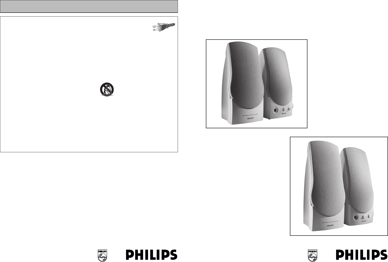 philips speaker system mms 102 user guide manualsonline com rh audio manualsonline com Philips M3001A Module Philips X2 Service Manual
