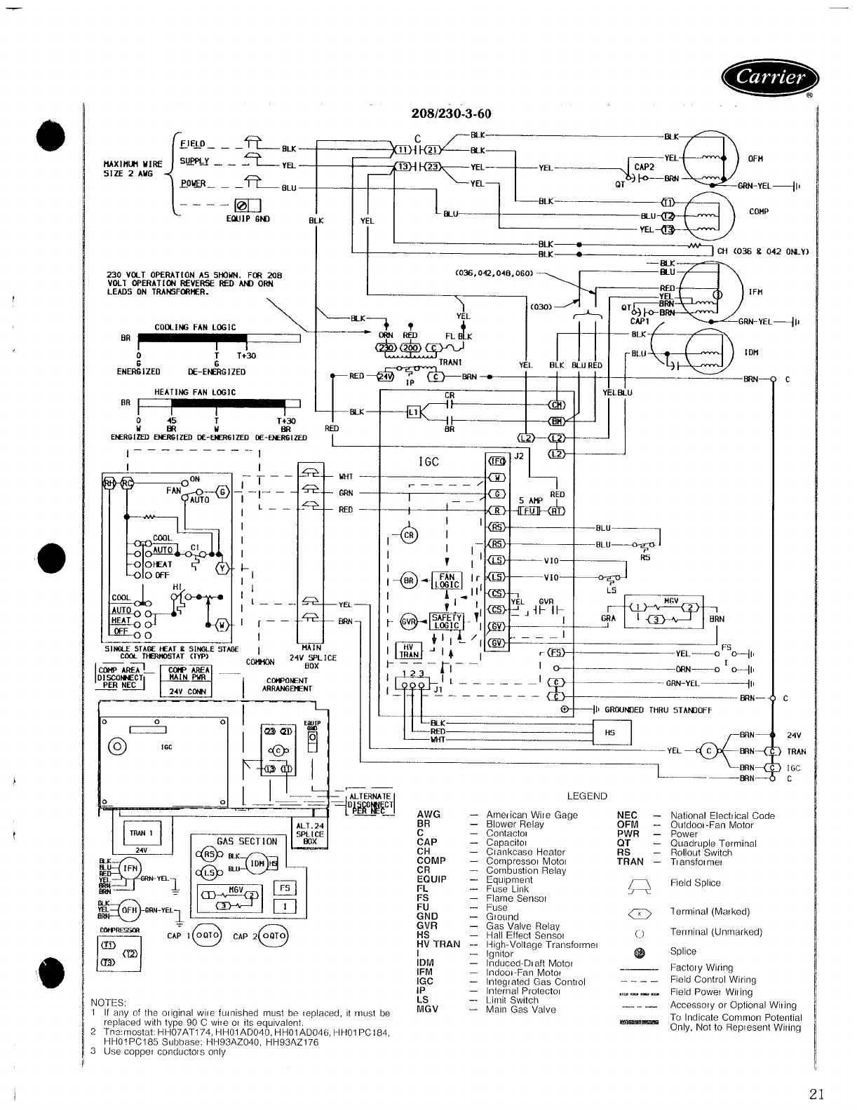 page 21 of carrier gas heater 48ss user guide manualsonline comGast 86r Compressor Wiring Diagram #14