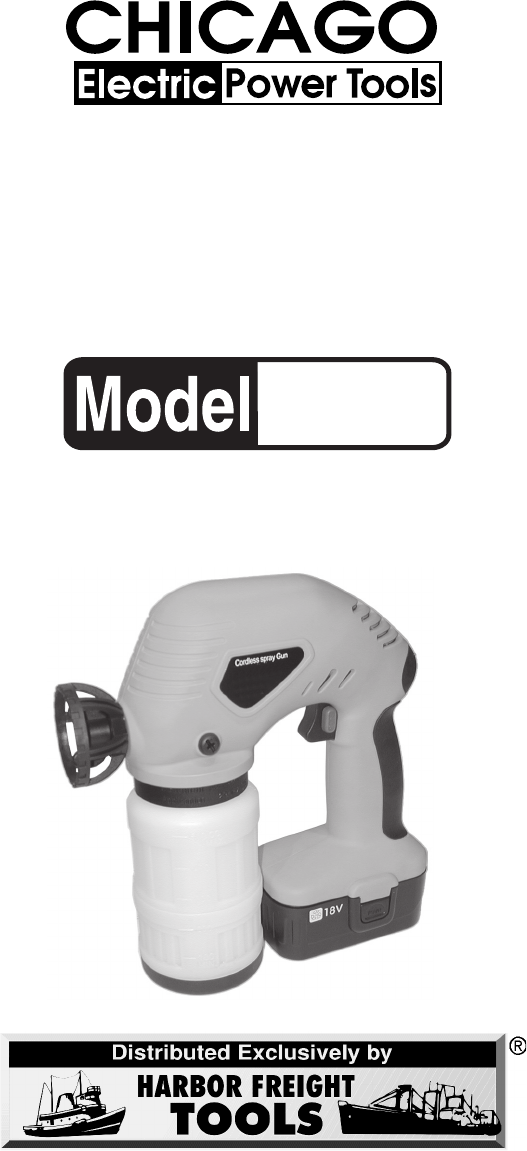 Chicago Electric Paint Sprayer 90880 User Guide