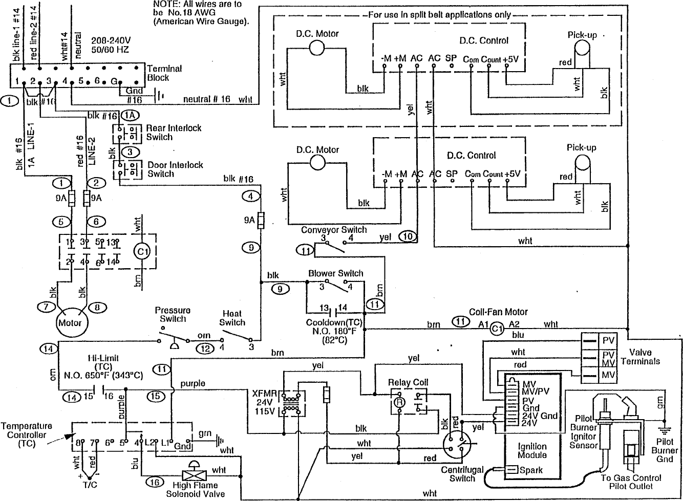 Page 153 Of Middleby Marshall Microwave Oven Ps220 User Guide Conveyor Belt Wiring Diagram 152