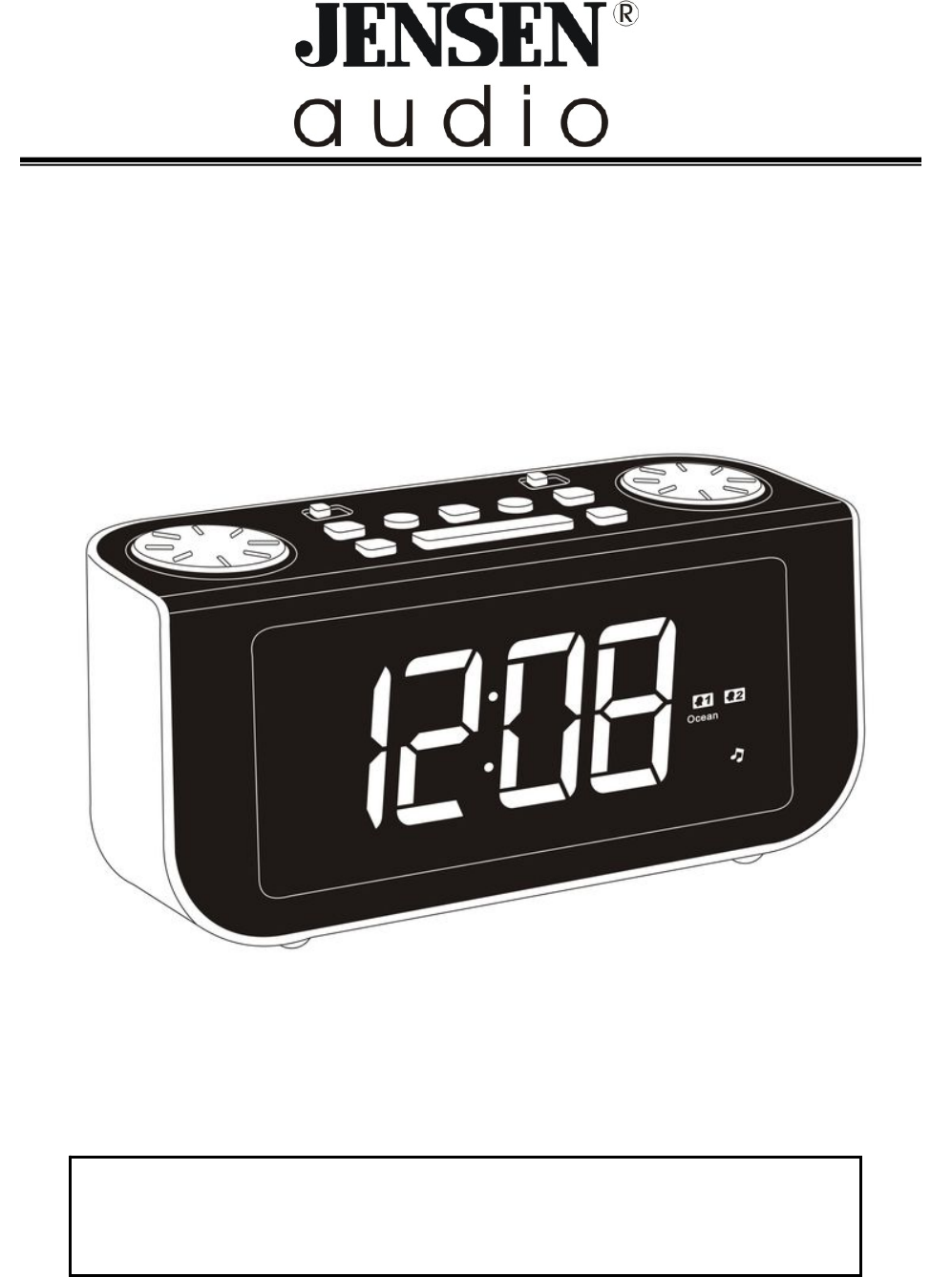 jensen clock radio jcr 300 user guide. Black Bedroom Furniture Sets. Home Design Ideas