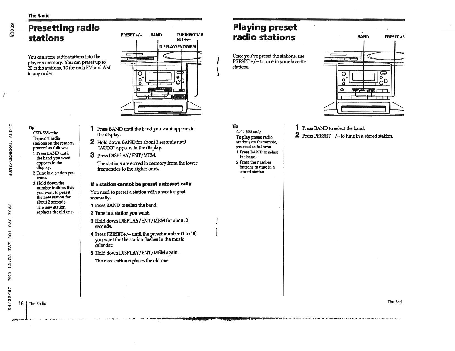Sony Cdx Sw200 Wiring Diagram Diagrams S2000 Harness Portable Stereo System User Manual Open Source U2022 Colors