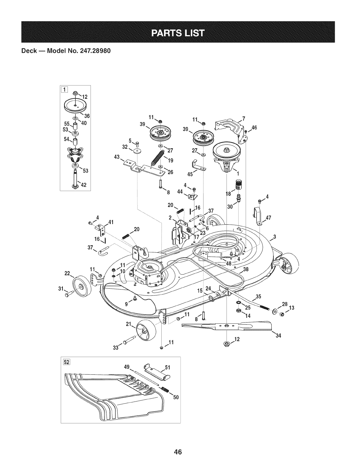 page 46 of craftsman lawn mower 247 28980 user guide