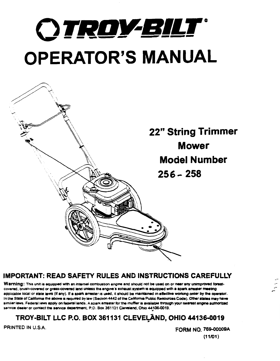 troy bilt service manual online