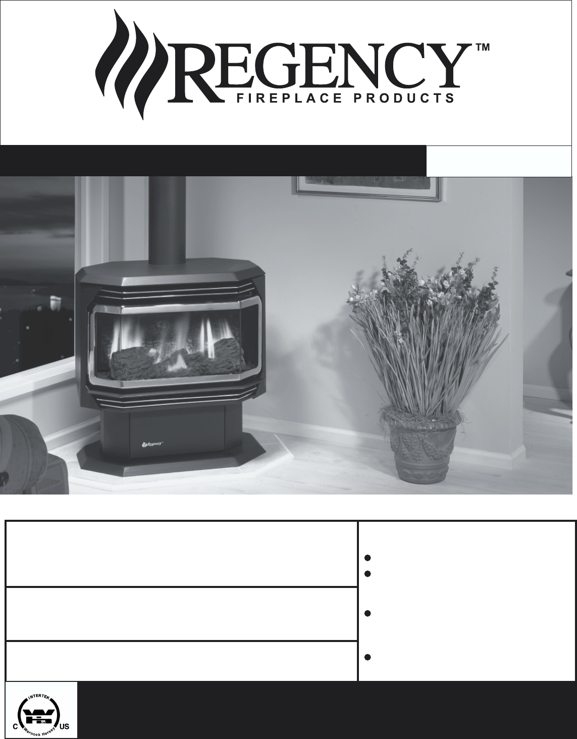 Regency Wraps Stove U38 Ng User Guide