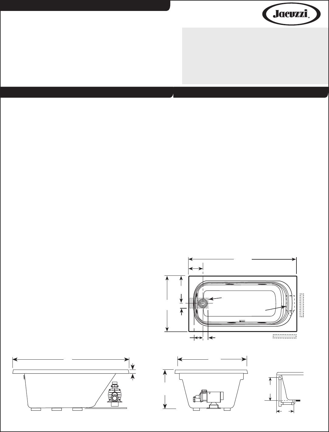 Jacuzzi Bathroom Aids F946 User Guide | ManualsOnline.com