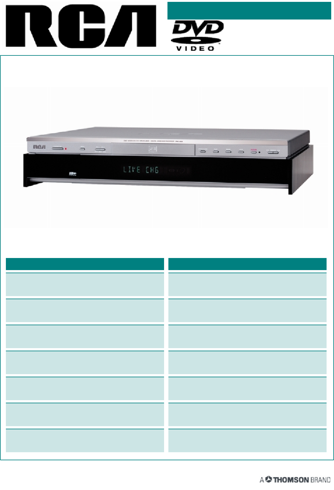 rca dvd recorder drc8000n user guide manualsonline com rh tv manualsonline com RCA DRC8030N Manual RCA DVD VCR Combo Player
