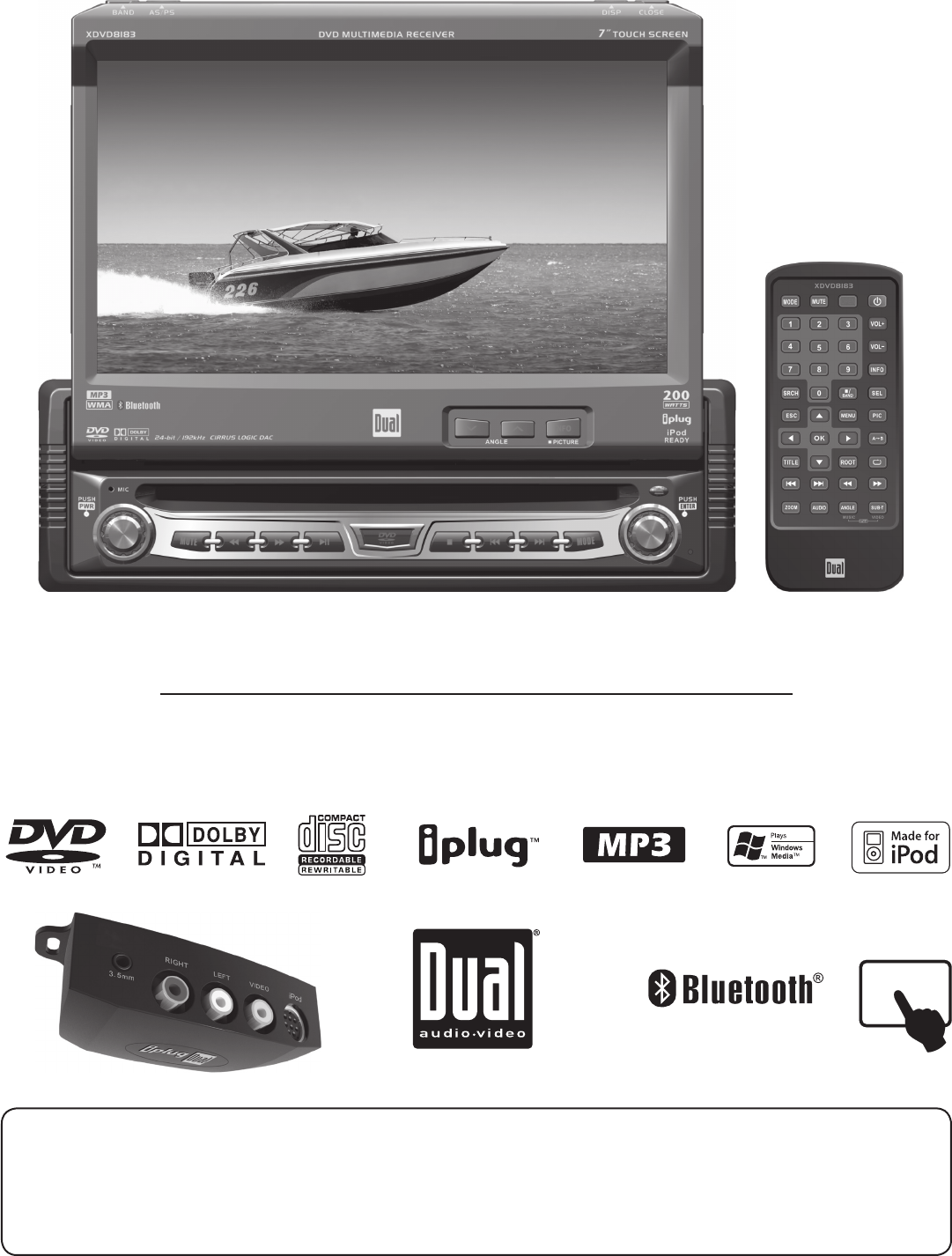 Dual Xdvd8183 Wiring Diagram Model Radio Block And Schematic Harness Portable Dvd Player User Guide Manualsonline Com Rh Portablemedia Xd7500 Sony Car Stereo