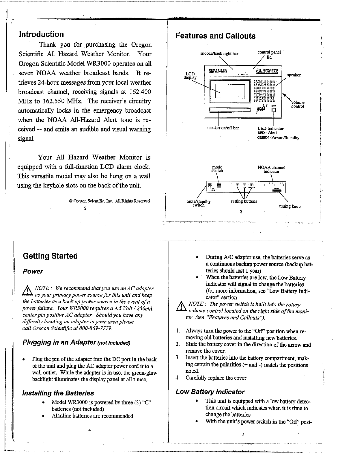 Page 2 Of Oregon Scientific Mp3 Player Wr3000 User Guide Low Battery Indicator Circuits 10