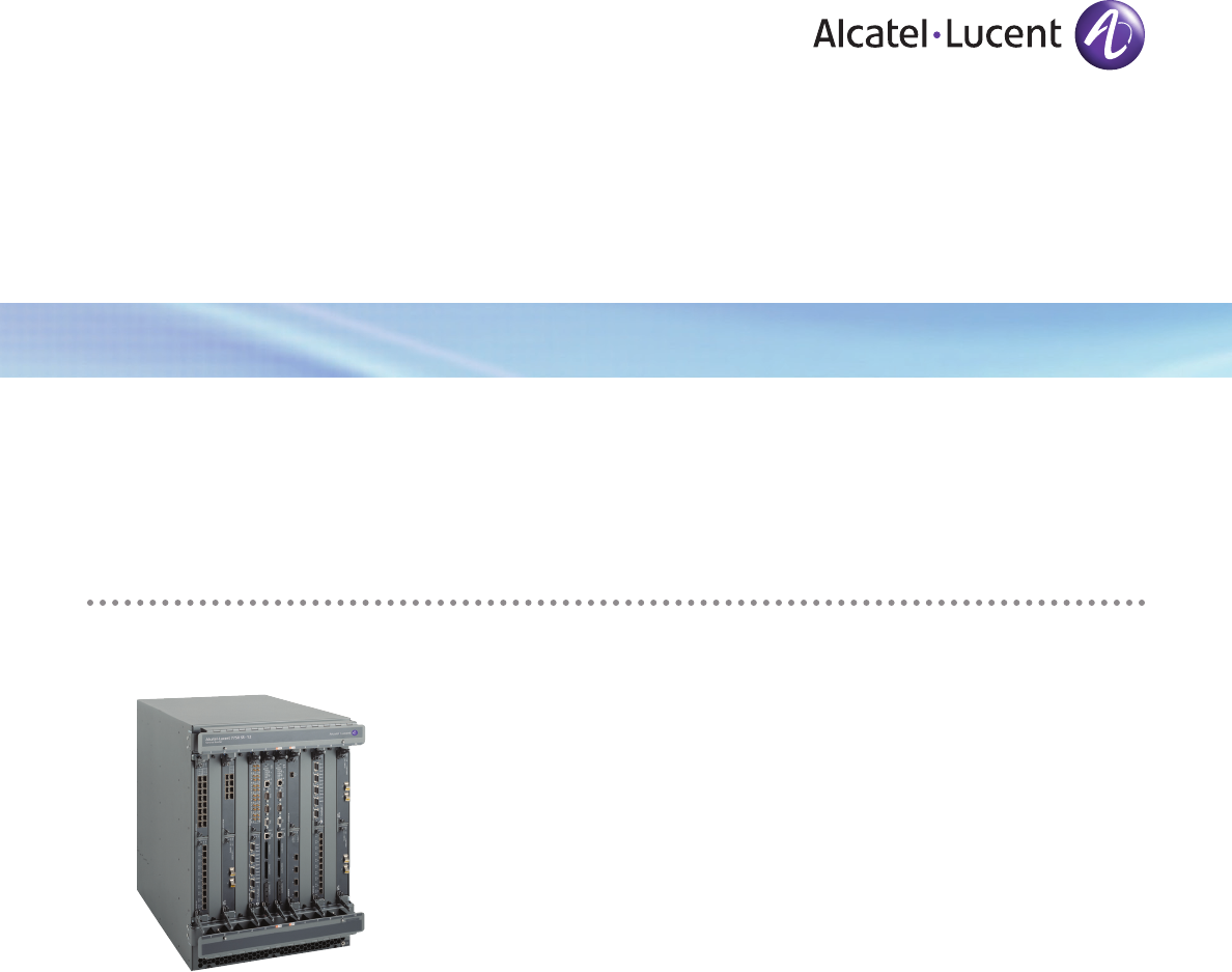 Alcatel-Lucent Network Router 7750 SR User Guide | ManualsOnline