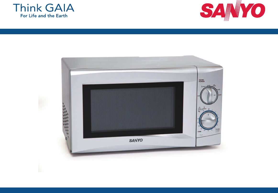 Sanyo Em S105a Microwave Oven User Manual