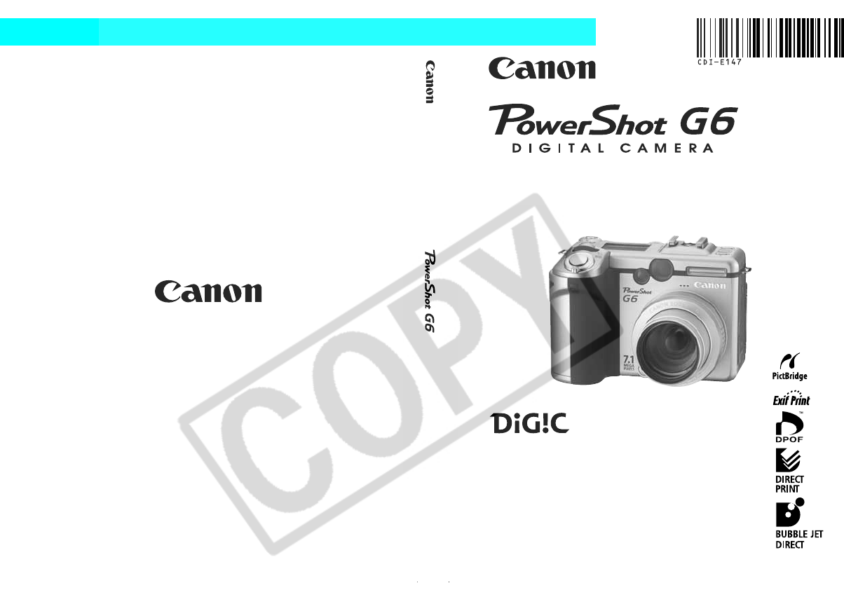 canon digital camera powershot g6 user guide manualsonline com rh camera manualsonline com The Top of Canon PowerShot Camera The Top of Canon PowerShot Camera