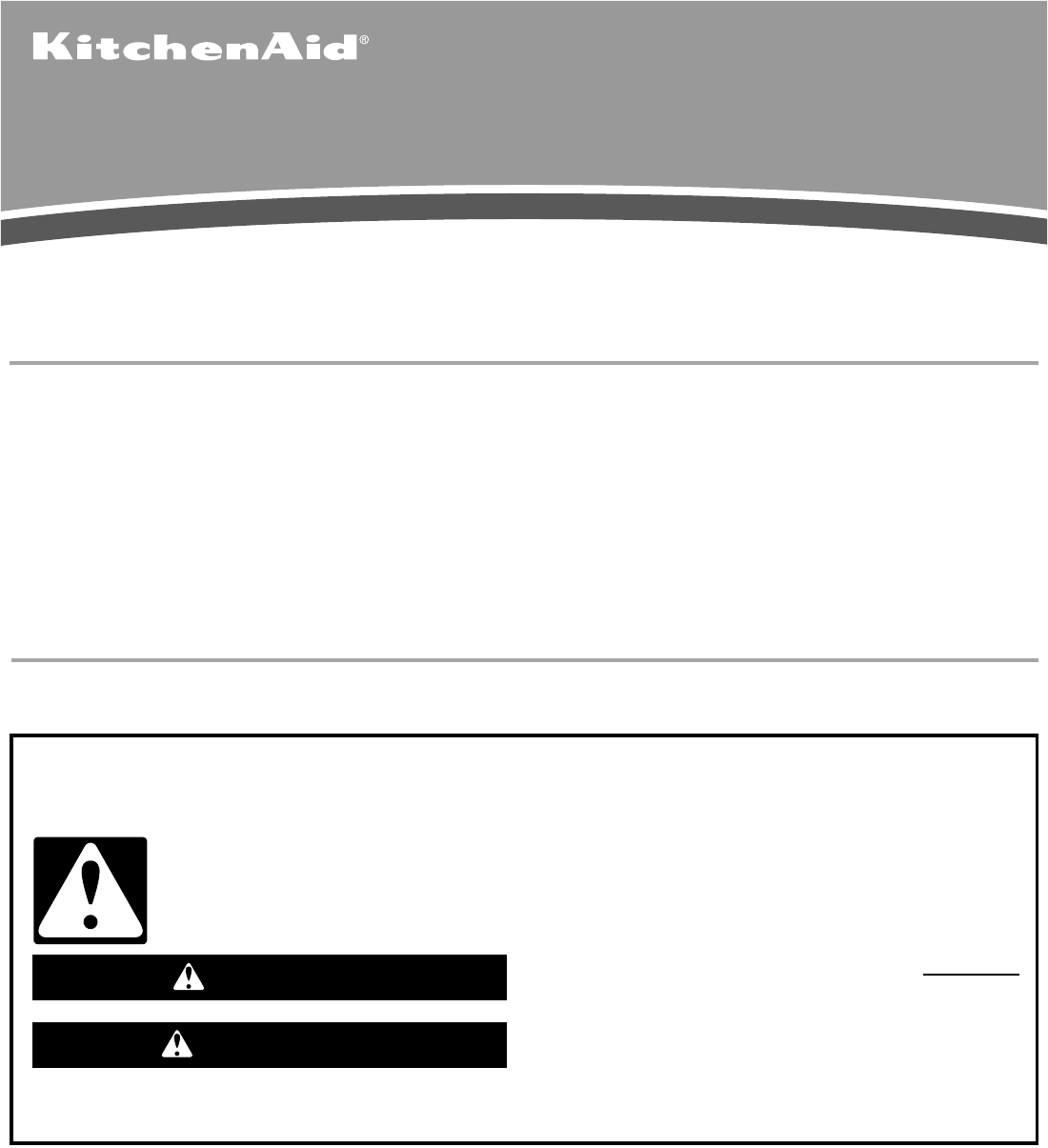 kitchenaid side by side refrigerator manual