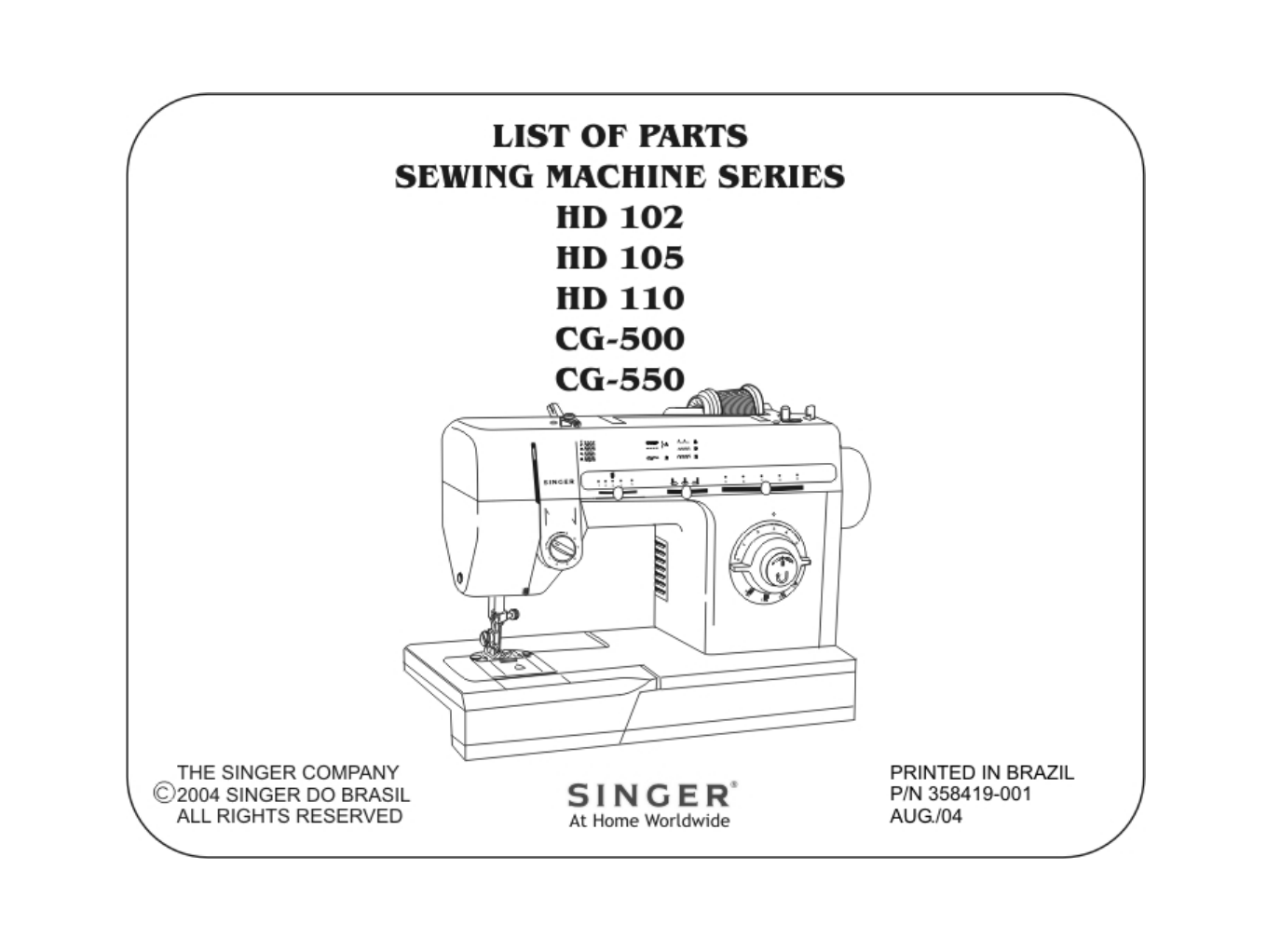 Singer Sewing Machine Cg500 User Guide Manualsonlinecom Electric Furnace Wiring Diagram Next