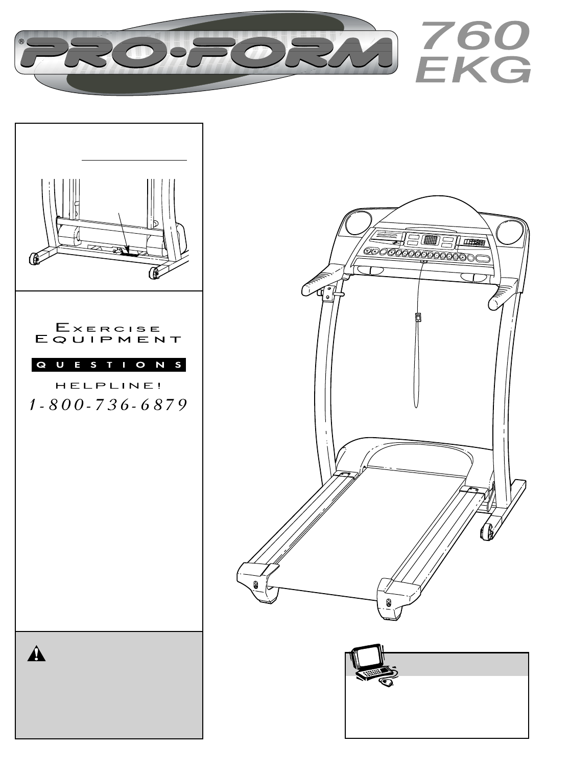 proform treadmill 760 ekg user guide