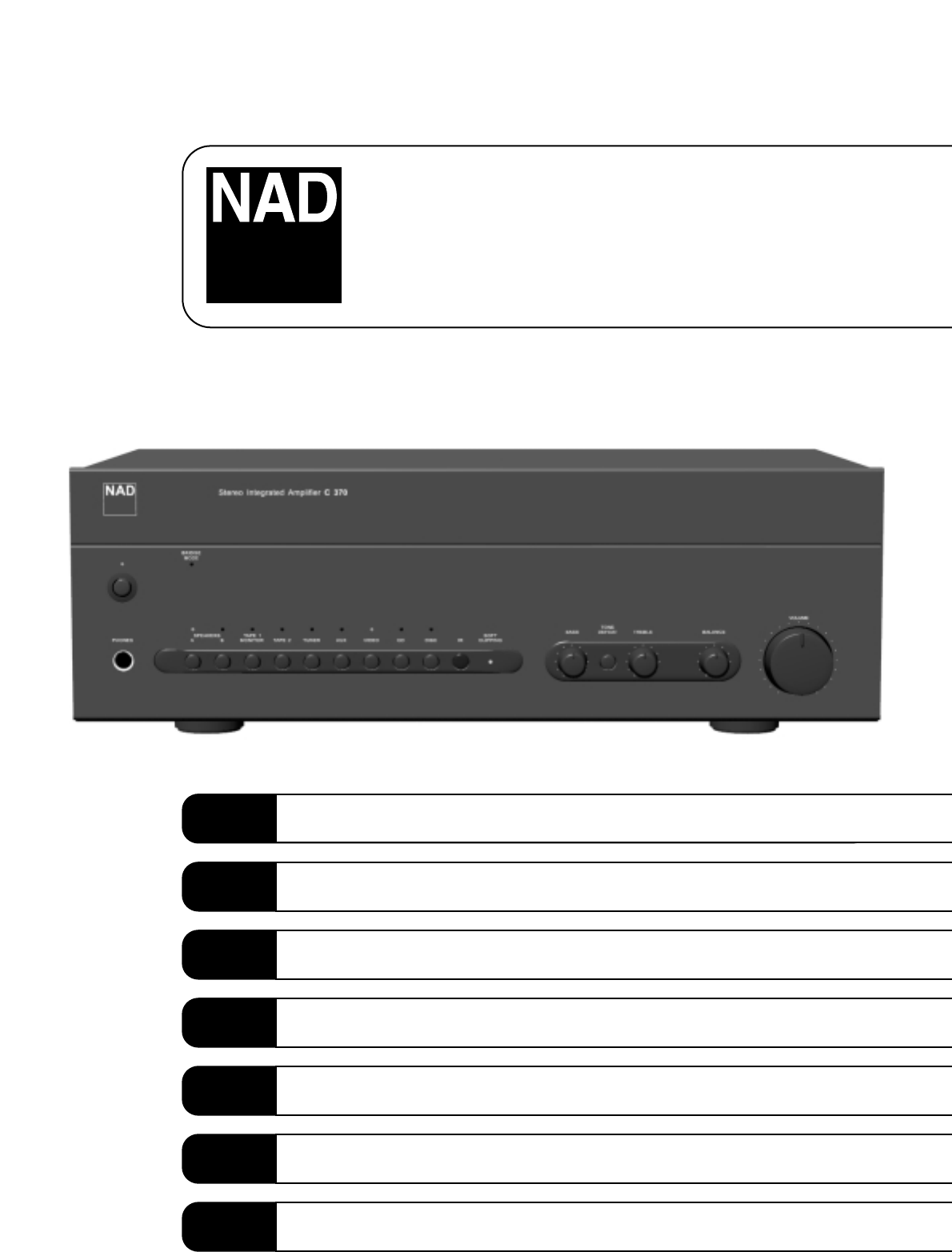 nad stereo amplifier c370 user guide manualsonline com rh audio manualsonline com nad c 370 specs nad c370 repair manual