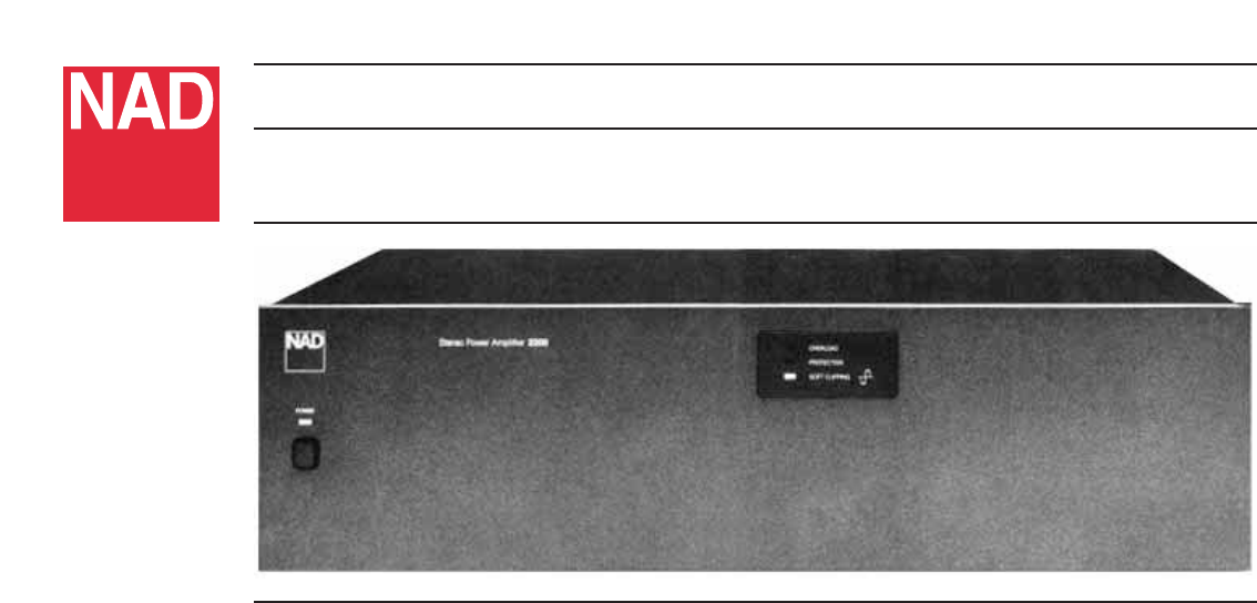 NAD Stereo Amplifier 2200 User Guide | ManualsOnline com