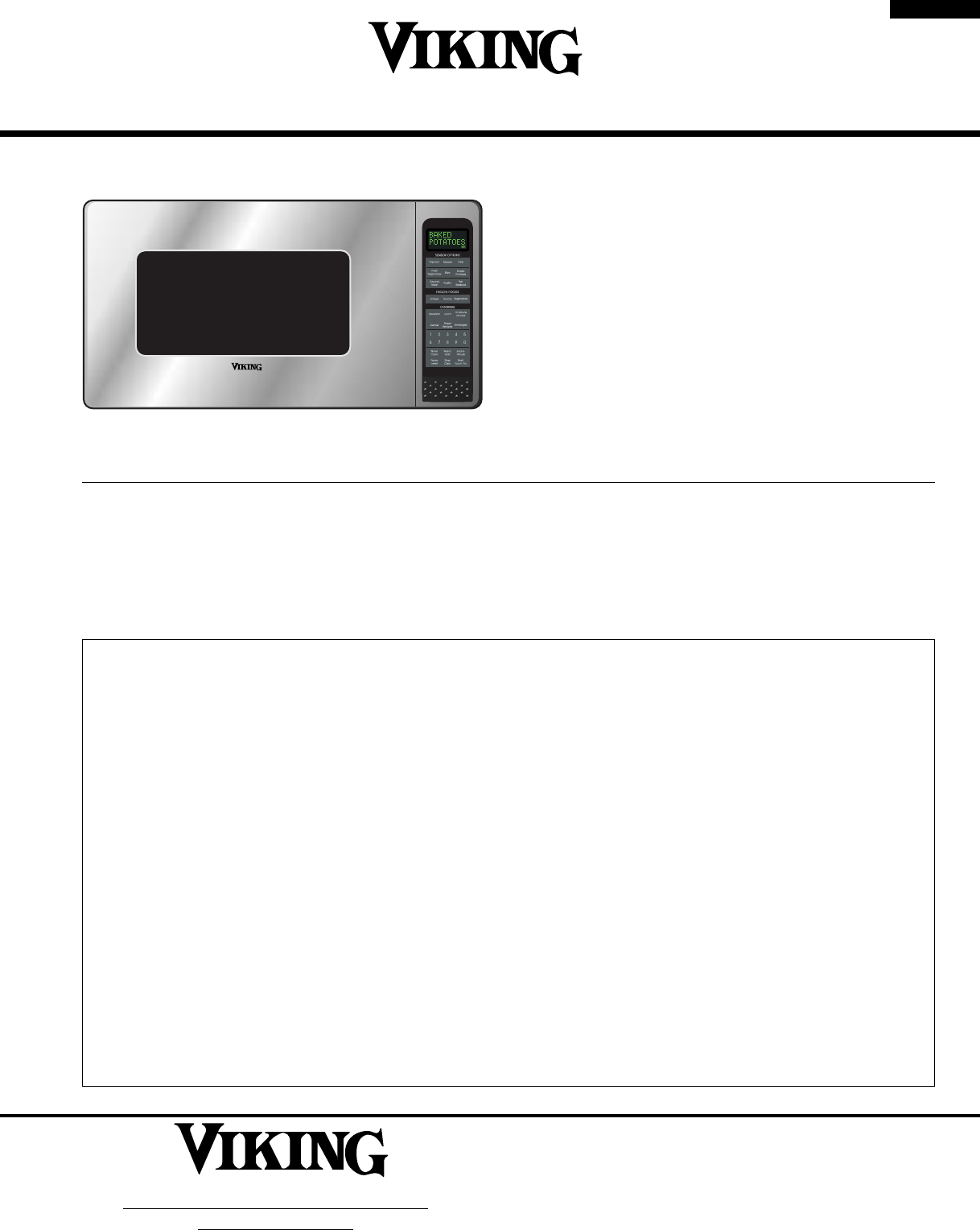 Viking Microwave Oven Vmos200 User Guide Manualsonline