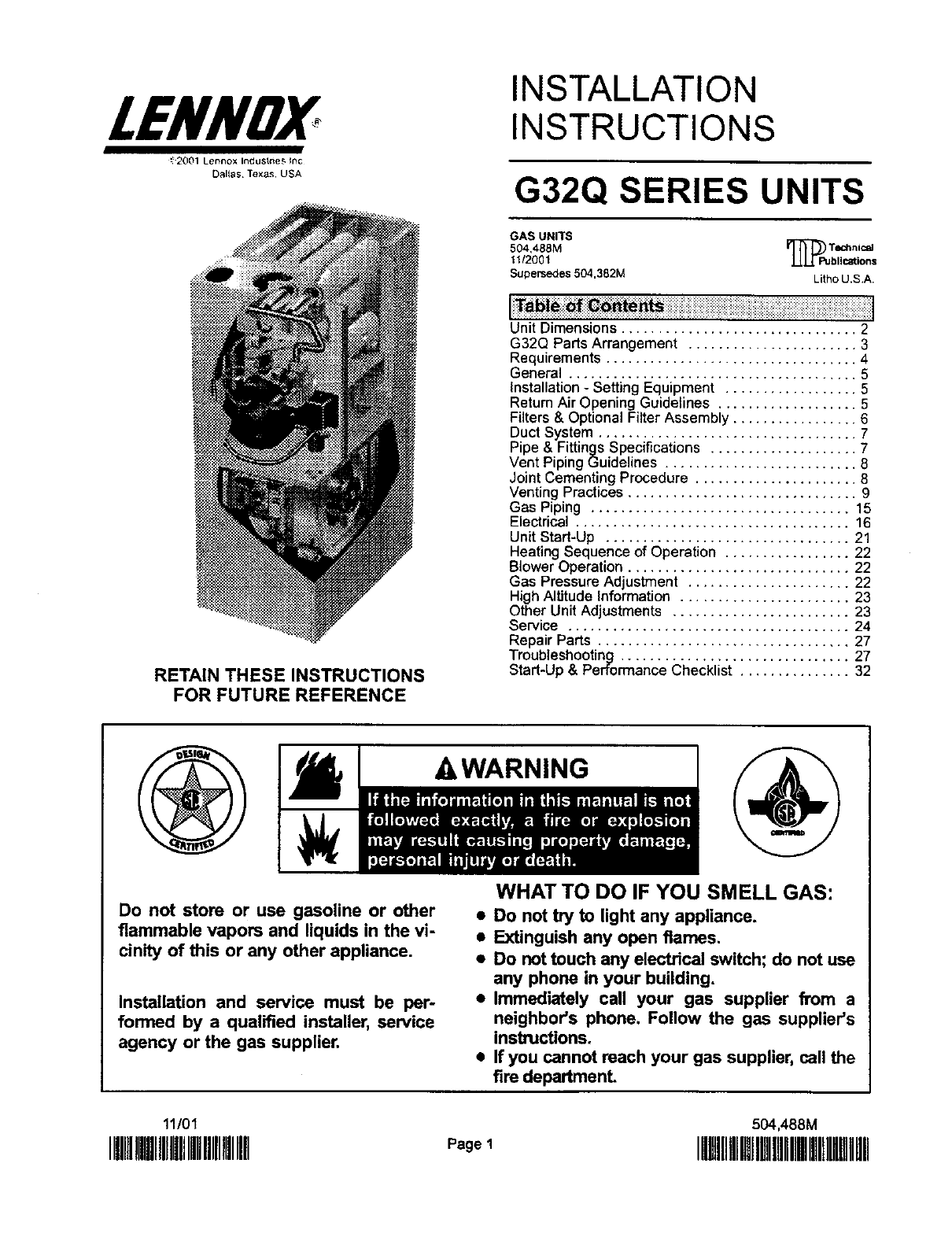 Download free software lennox g61mpv installation manual for Lennox program