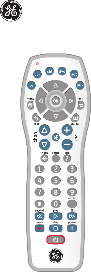 GE Universal Remote 24922 User Guide | ManualsOnline com