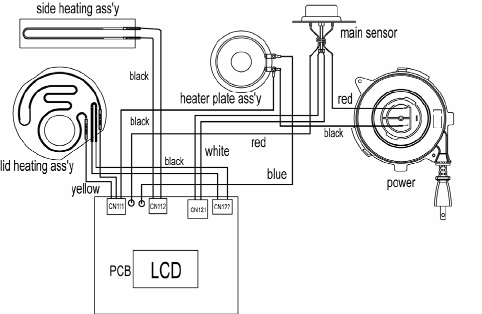 page 4 of sanyo rice cooker ecj-hc100s user guide | manualsonline, Wiring diagram