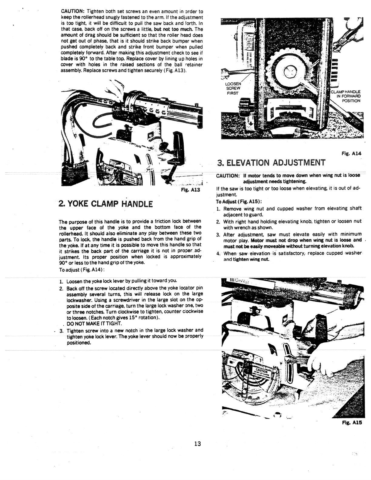 page 13 of dewalt saw 3400 user guide