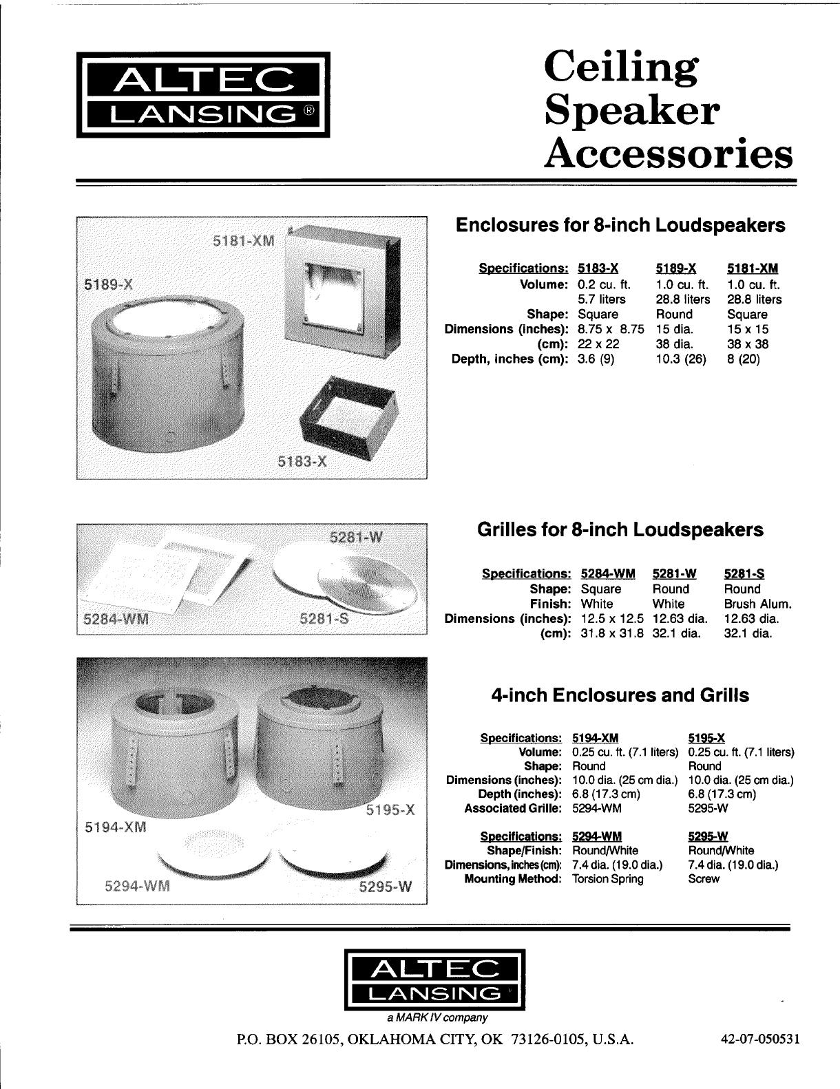 altec lansing speaker 5281 s user guide manualsonline com rh audio manualsonline com altec lansing service manual altec lansing acs495 owners manual
