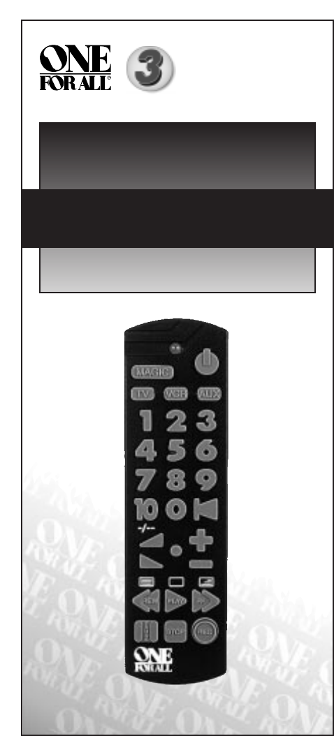 One For All Universal Remote Little Easy User Guide Manualsonline