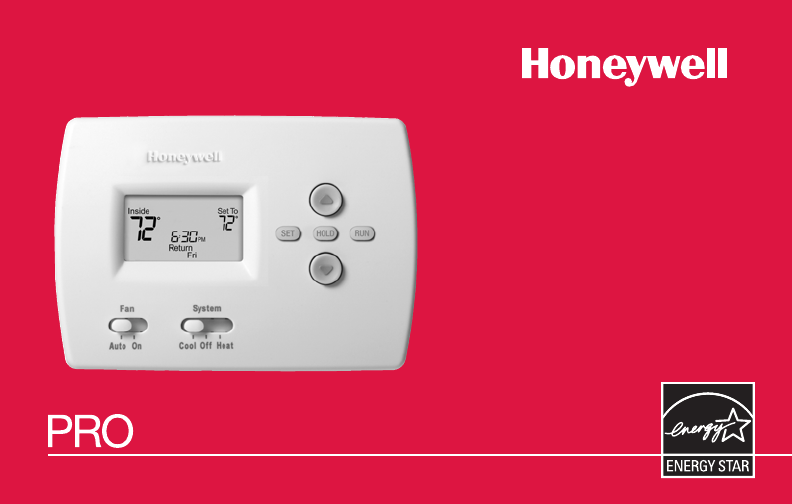 Honeywell Thermostat Th4110b User Guide